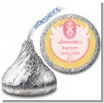 Baby Girl - Hershey Kiss Baptism / Christening Sticker Labels thumbnail