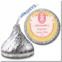 Baby Girl - Hershey Kiss Baptism / Christening Sticker Labels