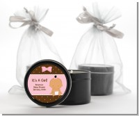 Baby Girl Hispanic - Baby Shower Black Candle Tin Favors