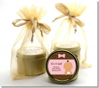Baby Girl Hispanic - Baby Shower Gold Tin Candle Favors