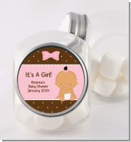 Baby Girl Hispanic - Personalized Baby Shower Candy Jar
