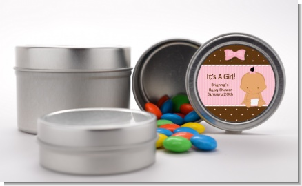 Baby Girl Hispanic - Custom Baby Shower Favor Tins