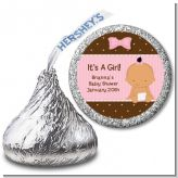 Baby Girl Hispanic - Hershey Kiss Baby Shower Sticker Labels