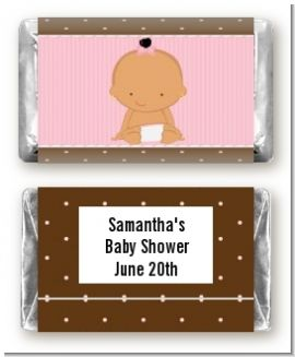 Baby Girl Hispanic - Personalized Baby Shower Mini Candy Bar Wrappers