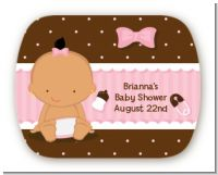 Baby Girl Hispanic - Personalized Baby Shower Rounded Corner Stickers