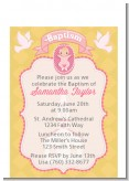 Baby Girl - Baptism / Christening Petite Invitations