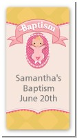 Baby Girl - Custom Rectangle Baptism / Christening Sticker/Labels