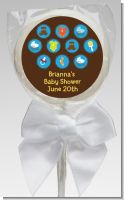 Baby Icons Blue - Personalized Baby Shower Lollipop Favors