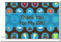 Baby Icons Blue - Baby Shower Thank You Cards