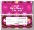 Baby Icons Pink - Personalized Baby Shower Candy Bar Wrappers thumbnail