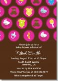 Baby Icons Pink - Baby Shower Invitations