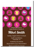Baby Icons Pink - Baby Shower Petite Invitations