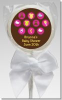Baby Icons Pink - Personalized Baby Shower Lollipop Favors