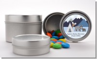 Baby Mountain Trail - Custom Baby Shower Favor Tins