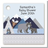 Baby Mountain Trail - Personalized Baby Shower Card Stock Favor Tags