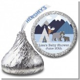 Baby Mountain Trail - Hershey Kiss Baby Shower Sticker Labels