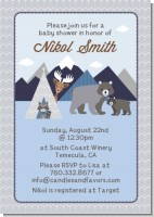Baby Mountain Trail - Baby Shower Invitations