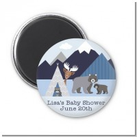 Baby Mountain Trail - Personalized Baby Shower Magnet Favors