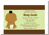 Baby Neutral African American - Baby Shower Petite Invitations