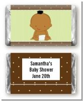 Baby Neutral African American - Personalized Baby Shower Mini Candy Bar Wrappers