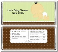 Baby Neutral Asian - Personalized Baby Shower Candy Bar Wrappers