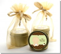 Baby Neutral Caucasian - Baby Shower Gold Tin Candle Favors