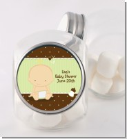 Baby Neutral Caucasian - Personalized Baby Shower Candy Jar