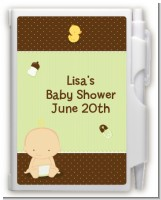 Baby Neutral Caucasian - Baby Shower Personalized Notebook Favor