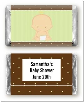 Baby Neutral Caucasian - Personalized Baby Shower Mini Candy Bar Wrappers