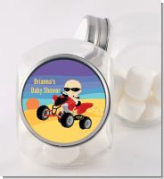 Baby On A Quad - Personalized Baby Shower Candy Jar