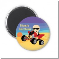 Baby On A Quad - Personalized Baby Shower Magnet Favors