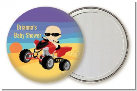 Baby On A Quad - Personalized Baby Shower Pocket Mirror Favors