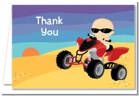 Baby On A Quad - Baby Shower Thank You Cards