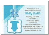 Baby Outfit Blue - Baby Shower Petite Invitations