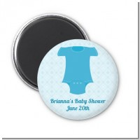 Baby Outfit Blue - Personalized Baby Shower Magnet Favors