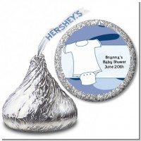 Baby Outfit Camouflage - Hershey Kiss Baby Shower Sticker Labels