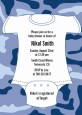 Baby Outfit Camouflage - Baby Shower Invitations thumbnail