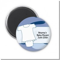 Baby Outfit Camouflage - Personalized Baby Shower Magnet Favors