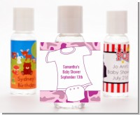 Baby Outfit Pink Camo - Personalized Baby Shower Hand Sanitizers Favors