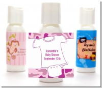 Baby Outfit Pink Camo - Personalized Baby Shower Lotion Favors