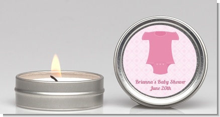 Baby Outfit Pink - Baby Shower Candle Favors