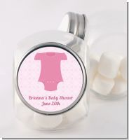 Baby Outfit Pink - Personalized Baby Shower Candy Jar