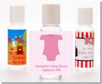Baby Outfit Pink - Personalized Baby Shower Hand Sanitizers Favors
