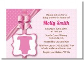 Baby Outfit Pink - Baby Shower Petite Invitations