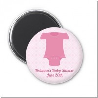 Baby Outfit Pink - Personalized Baby Shower Magnet Favors