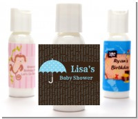 Baby Sprinkle Umbrella Blue - Personalized Baby Shower Lotion Favors