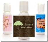 Baby Sprinkle Umbrella Green - Personalized Baby Shower Lotion Favors