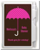 Baby Sprinkle Umbrella Pink - Baby Shower Personalized Notebook Favor