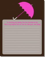 Baby Sprinkle Umbrella Pink - Baby Shower Notes of Advice