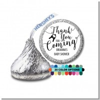 Thank You For Coming - Hershey Kiss Baby Shower Sticker Labels